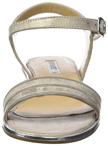 Sandalias para Correa de Fumo Beige Piu Tamy con 011 Mujer Tobillo Donna Camel wqc1E04n4
