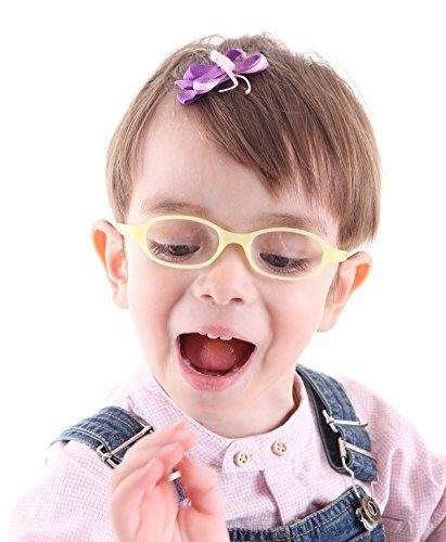 EnzoDate Baby Optical Glasses Frame Size 40 with Strap, Bendable Boys Girls Infants -