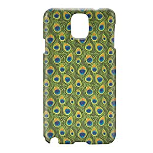Loud Universe Samsung Galaxy Note 3 3D Wrap Around Peacock Print Cover - Green