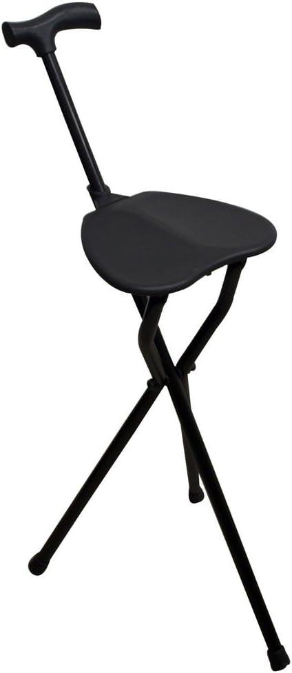 Bastón con asiento   Patas trípode   Aguanta hasta 100 kg   Aluminio muy resistente  Ligero  Con puño derby