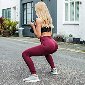 High Waisted Leggings for Women – Soft Athletic Tummy Control Pants for Running Cycling Yoga Workout – Reg & Plus Size