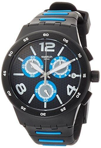 Chrono Swatch Watch ([Swatch] Swatch watch New Chrono Plastic (New Chrono plastic) BLACK SPY (black spy) Men's SUSB410 [regular imported goods] SUSB410 Men's [regular imported goods])