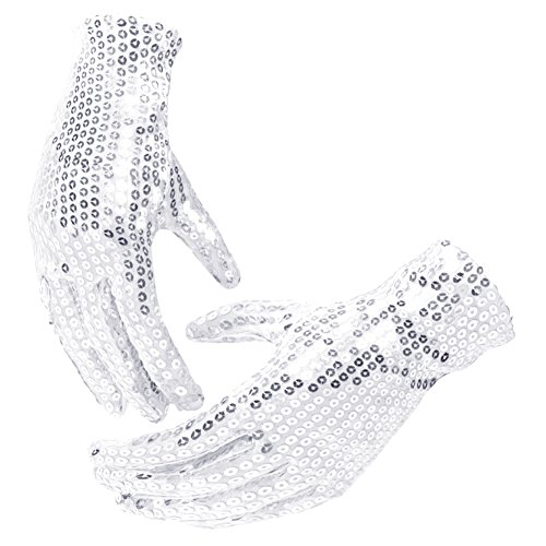 Sparkle Sequin Fancy Dress Gloves Halloween Christmas Party Costume Gloves Props]()