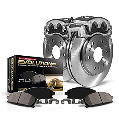Power Stop KCOE5067 Autospeciality Replacement Front Caliper Kit- OE Rotors, Ceramic Brake Pads, Calipers: Automotive