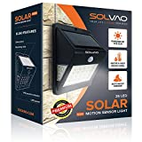 SOLVAO Solar Motion Detector Light (Upgraded) - 26 LED Dusk to Dawn Outside Light for House, Shed, Chicken Coop & RV - Brightest Solar Lights for Outdoor Use - Exterior Motion Sensor Light