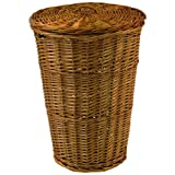 Redmon For Kids Round Willow Hamper with Matching Lid - Honey