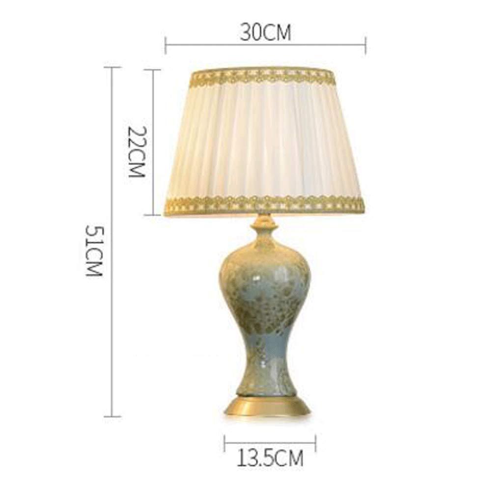 Schreibtischlampen American Country Nachttischlampe Nachttischlampe Nachttischlampe dekorative Lichter Wohnzimmer Schlafzimmer kreative Studie Keramik Tischlampe b87a7d