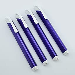 Pentel Tri Eraser - Retractable 3 Sided Erasers, Purple Holder (Quantity of 4)
