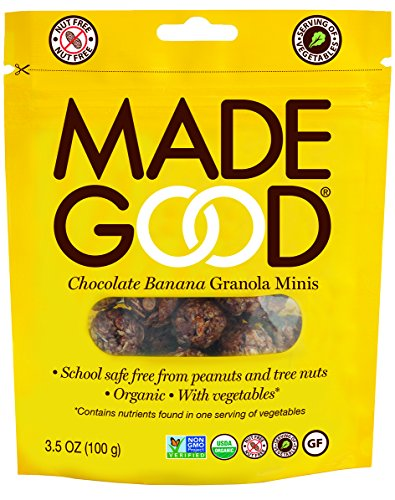Mini Chocolate Balls (Made Good Granola Minis Chocolate Banana, 100 gram, (Pack of 6))