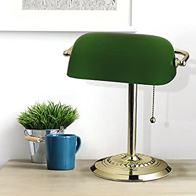 Tensor 17466-010 13.5-Inch Brass Plated Bankers Desk Lamp