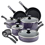 Paula Deen Riverbend Aluminum Nonstick Cookware Set, 12-Piece, Lavender Speckle Review
