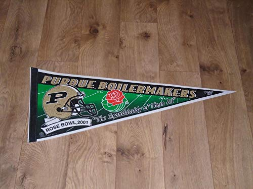 VINTAGE 2001 PURDUE ROSE BOWL FOOTBALL FULL SIZE PENNANT