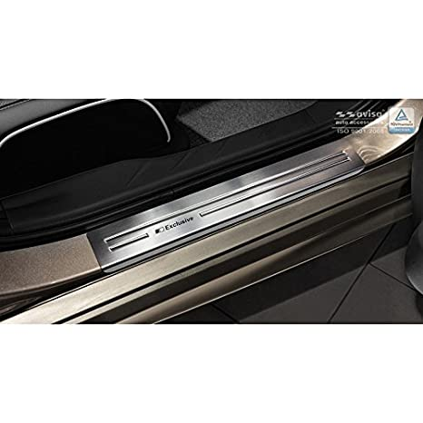 Autostyle 2/12008 INOX - Protector para umbral de Puerta, Color Plateado: Amazon.es: Coche y moto