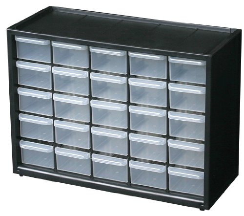 Flambeau 6576NA Parts Storage Drawer, Hardware and Craft Cabinet with 25 Drawers by Flambeau