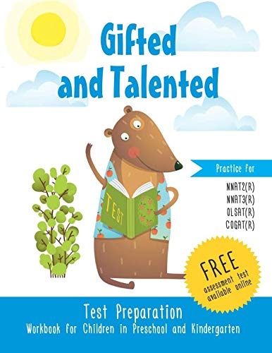 Gifted and Talented  Test Preparation Workbook for Children in Preschool and Kindergarten  Practice Pre-K Test Prep Assessment Test Prek