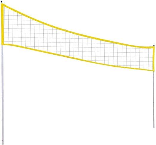 para interiores y exteriores tama/ño est/ándar plegable Red de voleibol ajustable de 710 cm x 60 cm HTY05 patio y piscina equipamiento deportivo con cable de acero para jard/ín playa