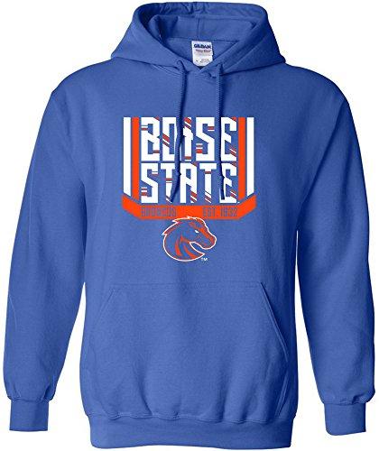NCAA Boise State Broncos Bars & Stripes Hooded Sweatshirt, XX-Large,Royal