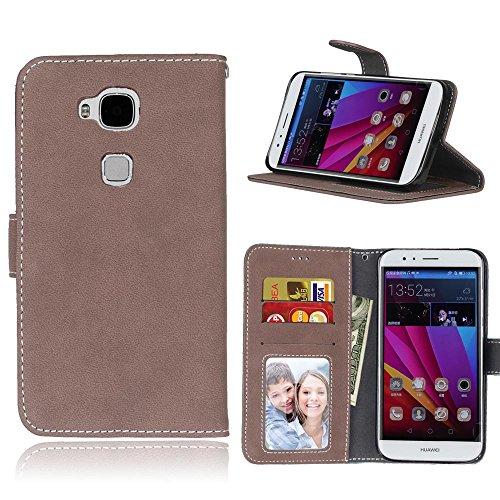 SRY-Conjuntos de teléfonos móviles de Huawei Huawei Ascend G8 G7 Plus GX8 estuche de la cubierta de la caja de la superficie esmerilada Cubierta de la caja del tirón horizontal para Huawei Ascend G8 G 3