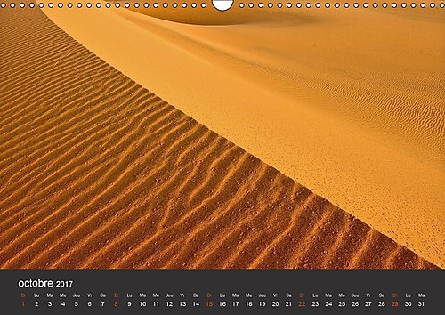Le Sahara de l'Algérie du Sud : Contact avec le désert de sable, ses habitants, sa nature et sa culture. Calendrier mural A3 horizontal 2017