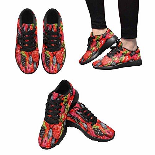 Interestprint Berry Fruits Femmes Jogging Running Sneaker Léger Aller Facile Chaussures De Marche Multi 1