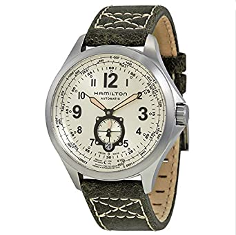 Hamilton - HAMILTON Khaki Aviation QNE-Auto H76655723 - H76655723: Hamilton: Amazon.es: Relojes