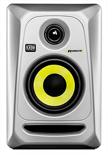 KRK RP4G3 4'' High Performance Studio Monitors (Silver) by Gibson Pro Audio