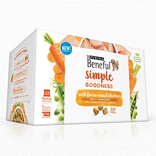 Purina Beneful Simple Goodness With Farm-Raised Chicken Adult Dry Dog Food - 32-Count Box Beneful Chicken Food