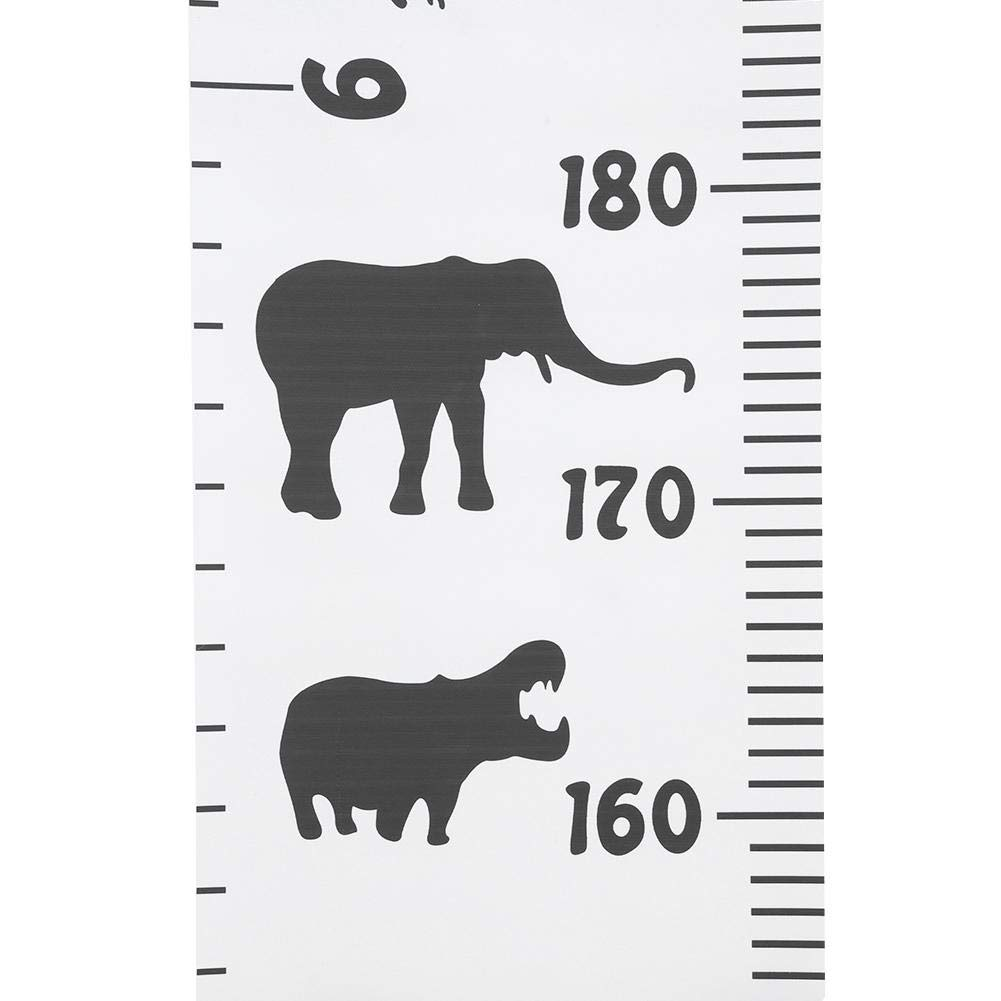 A Kids Growth Chart Wood Frame Fabric Canvas Hanging Height Measurement Ruler for Childs Room Decoration