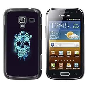 Cubierta protectora del caso de Shell Plástico || Samsung Galaxy Ace 2 || Cráneo azul @XPTECH