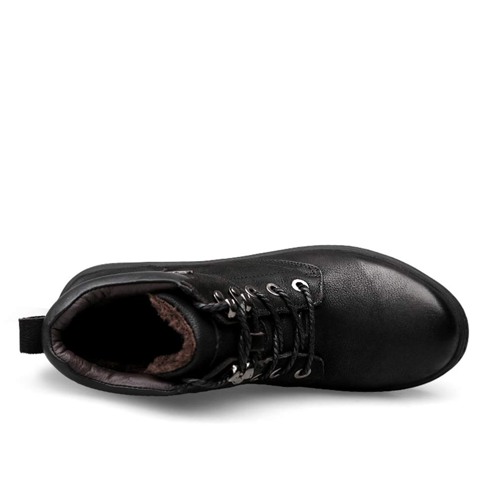 Shufang-schuhe Kurze Fluff Inside Herren Stiefeletten Schwarz Schwarz Schwarz Komfortabel Mit Wasserdichten Stiefelies Für Herren (Farbe   Schwarz, Größe   42 EU) f46f9a