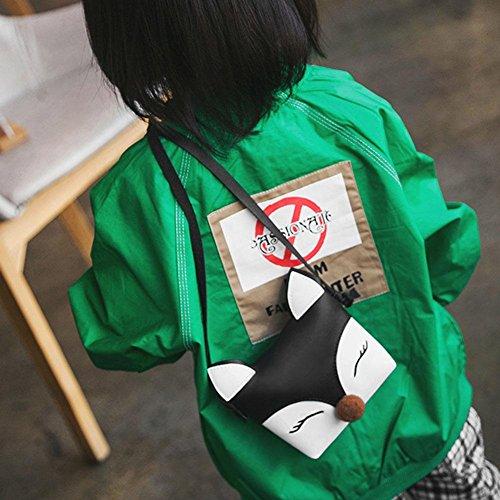 Bandoulière Filles Mini Bébé La Mignon Portés Main Crossbody Sac Sacs Rabat Épaule à Enfants Sac Portefeuille à Noir Fox Cabina qCq7wP4