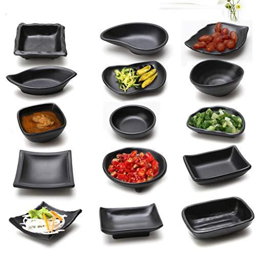 Fenteer BLACK SNACK DISH SERVING TRAY DIP BOWL APPETISER BITES NUTS CHIPS PARTY FOOD HOLDER TRAY 7-13cm PICK - 05 by Fenteer (Image #3)