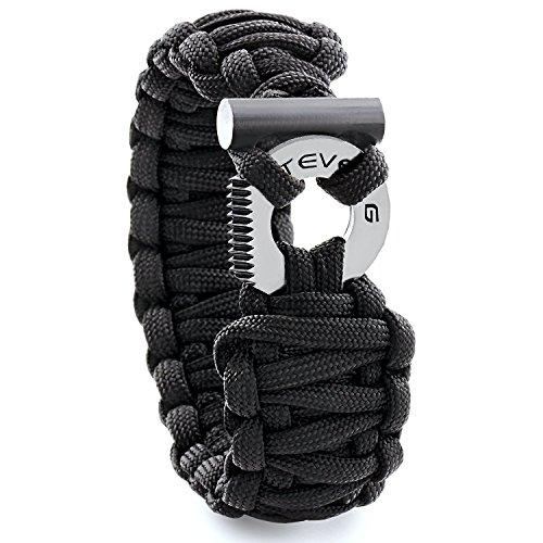 STEVEN G Mens Survival Gear Adjustable Professional Paracord Fashion Sport Bracelet with Firestarter and Striker/Cutter for Outdoor Adventures Prime Gift