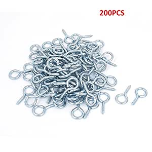 RilexAwhile 200 Pcs Blue Mini Eye Screw Eye Pins 16 MM Length X 5.5MM Hoop Eyepins Hooks Eyelets Findings for Clay Jewelry, Mini Corked Bottle Charms Plastic (10X3)