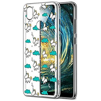 timeless design f2028 fba91 Huawei P20 Lite Case, Eouine Huawei P20 Lite Phone Case Clear with Pattern  [Ultra Slim] Shockproof Soft TPU Silicone Gel Back Cover Bumper Skin for ...