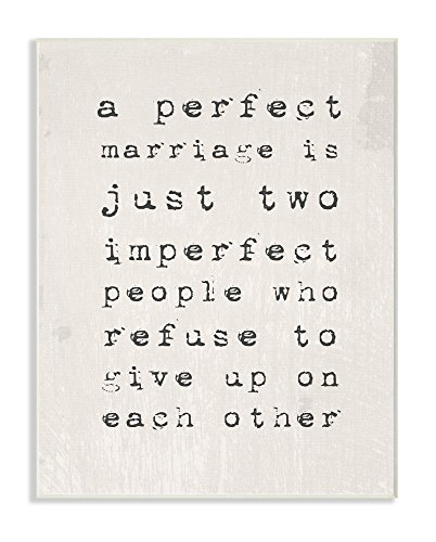 (The Stupell Home Decor Collection A A Perfect Marriage Wall Plaque Art, 10 x 15, )