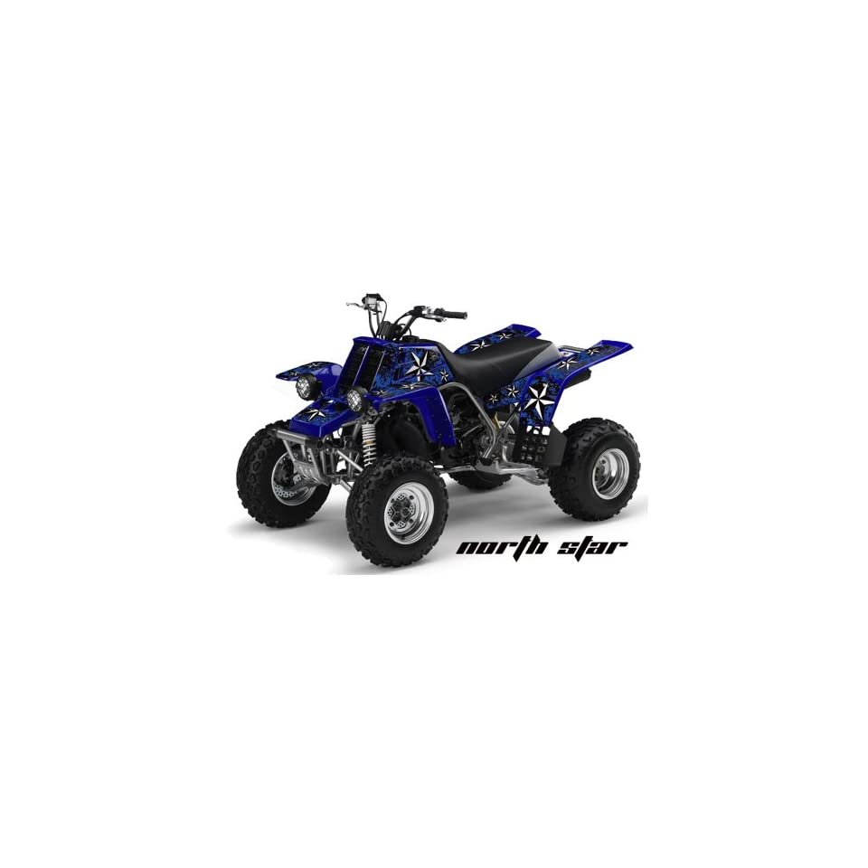 AMR Racing Yamaha Banshee 350 ATV Quad Graphic Kit   Northstar Blue, Black