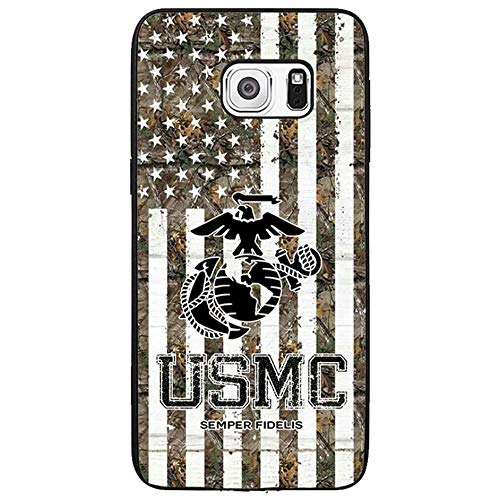 Skinsends Hippie USMC US Marine Corps Semper Fi Phone Cover Compatible with Samsung s6 Edge Plus, Camouflage US Flag Protective Shell Compatible with Samsung Galaxy s6 Edge Plus]()