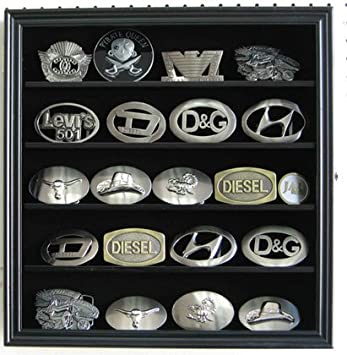 SMALL 3u0026quot; Belt Buckle Display Case Wall Shadow Box Cabinet, Glass Door,  BCLC01 Part 85