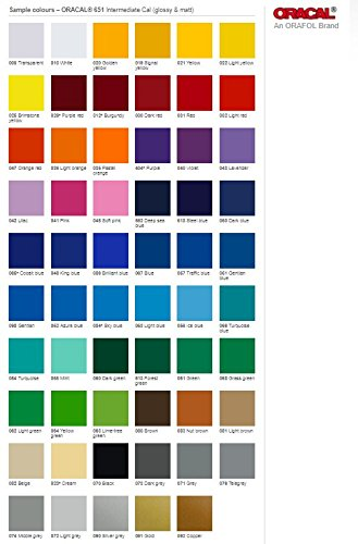 Oracal 651 - Ultimate 5ft Length Assortment - ALL 63 Colors Unbeatable Value by ORACAL (Image #1)