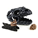 ComSaf Resin Terrarium Reptile&Amphibian Habit Decoration Pack of 4(Imitated Skulls+Float Wood)
