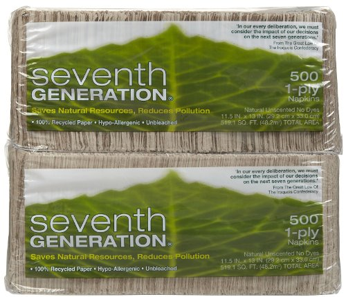 (Seventh Generation Natural Lunch Napkins - 500 ct - 2 pk)