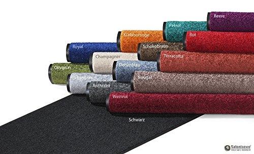 Waschbare Fußmatte 40 x 60 cm einfarbig Salonloewe, Farben:Petrol