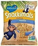Barbara's Bakery Snackimals Cookies, Vanilla, 6 Single Serving Bags (Pack of 6)