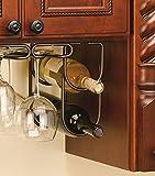 "Rev a shelf Wine Bottle Holder, 9""Hx4.25""Wx0.625""D, OIL RUBBED BRONZE"