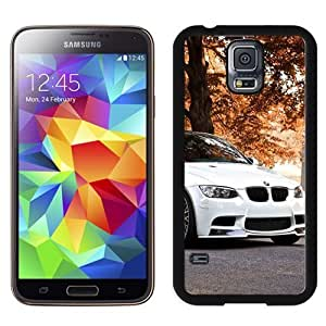 NEW Unique Custom Designed Samsung Galaxy S5 I9600 G900a G900v G900p G900t G900w Phone Case With White BMW M3 Autumn Background_Black Phone Case