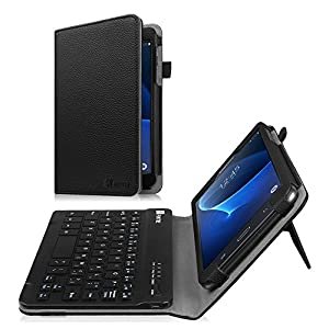 Fintie Keyboard Case for Samsung Galaxy Tab A 7.0, Slim Fit Folio PU Leather Cover with Detachable Magnetical Bluetooth Keyboard for Samsung Galaxy Tab A 7-inch Tablet (SM-T280/T285), Black