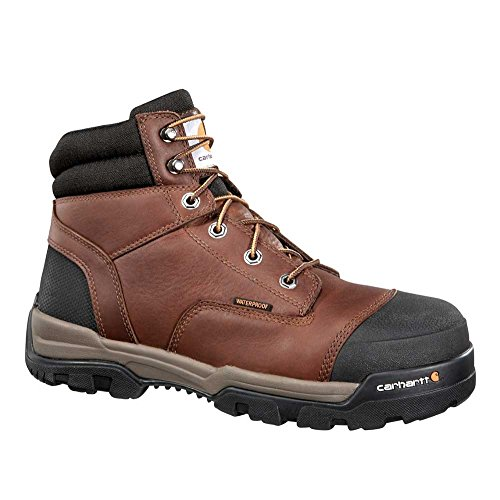 Carhartt Men's Ground Force 6-inch Brown Waterproof Work Boot - Composite Toe, Peanut Oil Tan Leather, 12 M US - New for 2017 - CME6355 (Boot Safety Tan Toe)