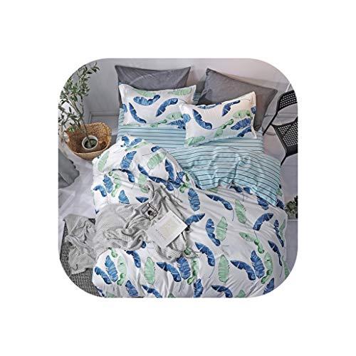 Comforter Sets A B Side Cartoon Duck Bedding Set Quilt Cover Bed Set Duvet Cover Flat Sheet Pillowcase Full Queen King,14,Queen Size 4Pcs,Flat Bed Sheet