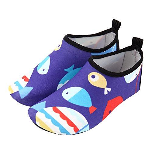 Happy cherry Zapatos de natación Niña Zapatills de Agua Para Piscina Playa Suela Antideslizantes Acuario